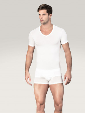 T-shirt con collo a V micromodal Bikkembergs