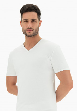 T-Shirt scollo a V 1801 Soft Line