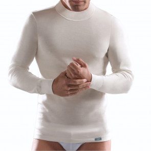 Long Sleeve Turtleneck Shirt Stretch Modal 1370 Ego Cagi
