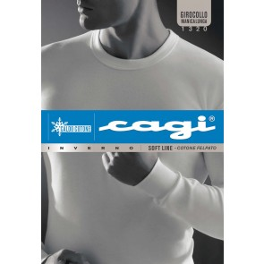 Long Sleeve Crew-Neck T-Shirt With Cuffs 1320 Cagi
