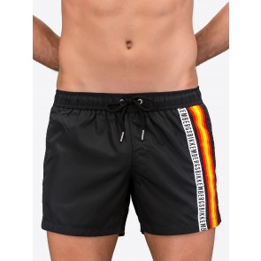 Boxer Shorts With Classic Tape Logo And Multicolour Waistband
